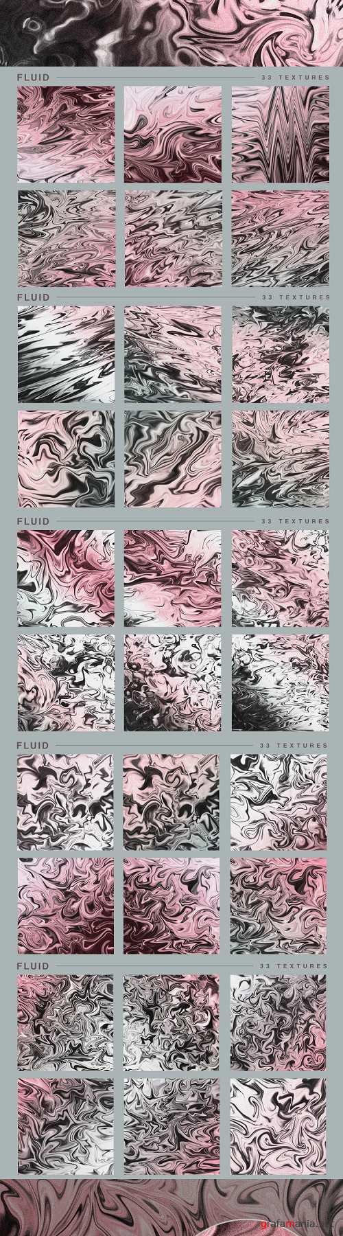 Fluid marble textures, rose silver pink, metall texture - 247822