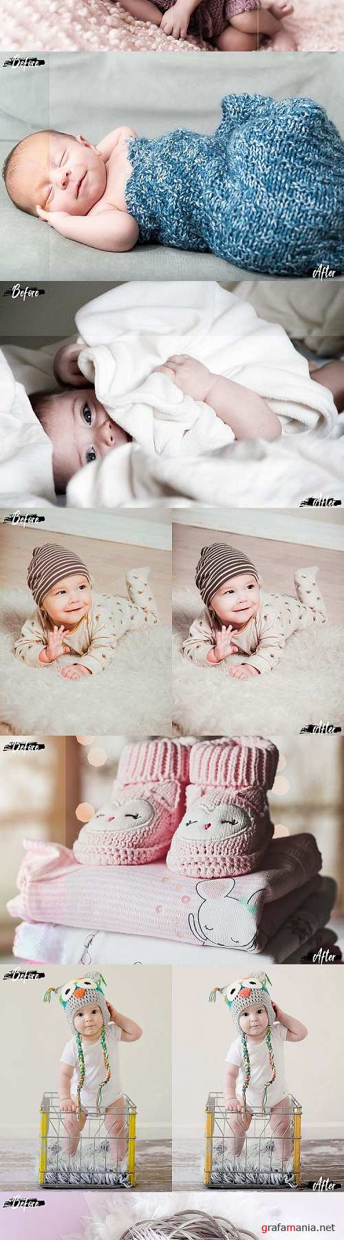 Neo Bambino Theme mobile lightroom presets newborn LR Tone - 248758