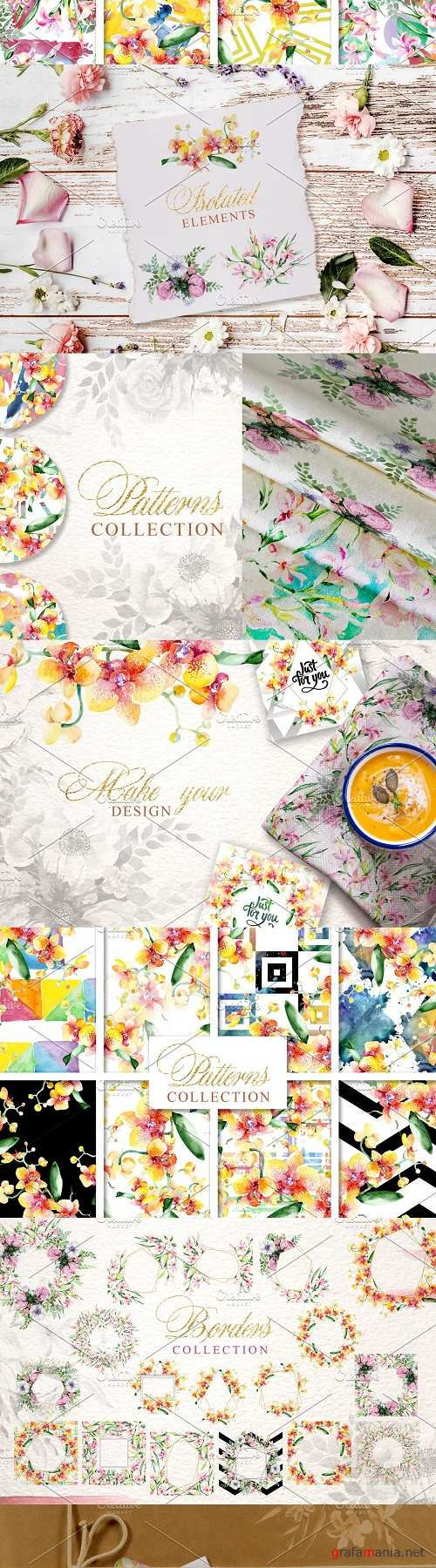 Magnificent Bouquets watercolor PNG - 3139590