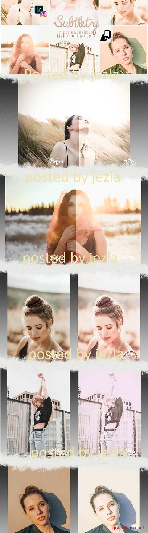 Subtlety presets for mobile and PC photo filter, photo effect - 250729