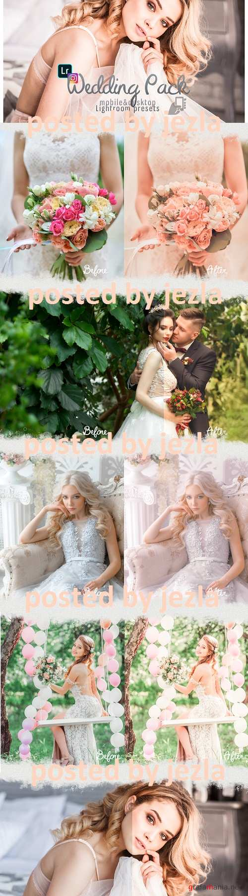 Wedding presets lightroom mobile pc professional pack - 250977