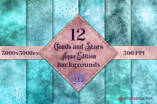 Clouds and Stars - Aqua Edition Backgrounds - 251791