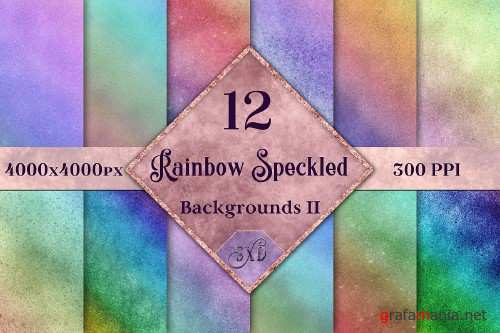 Rainbow Speckled Backgrounds Vol 2 - 12 Image Textures Set - 251611