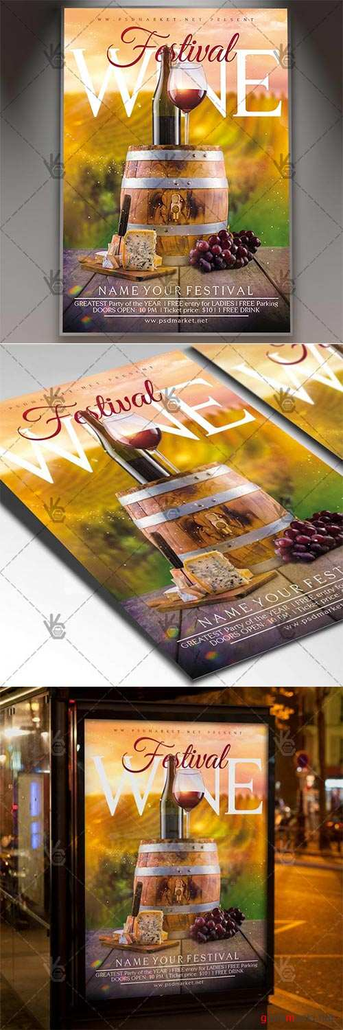 Wine Festival – Business Flyer PSD Template
