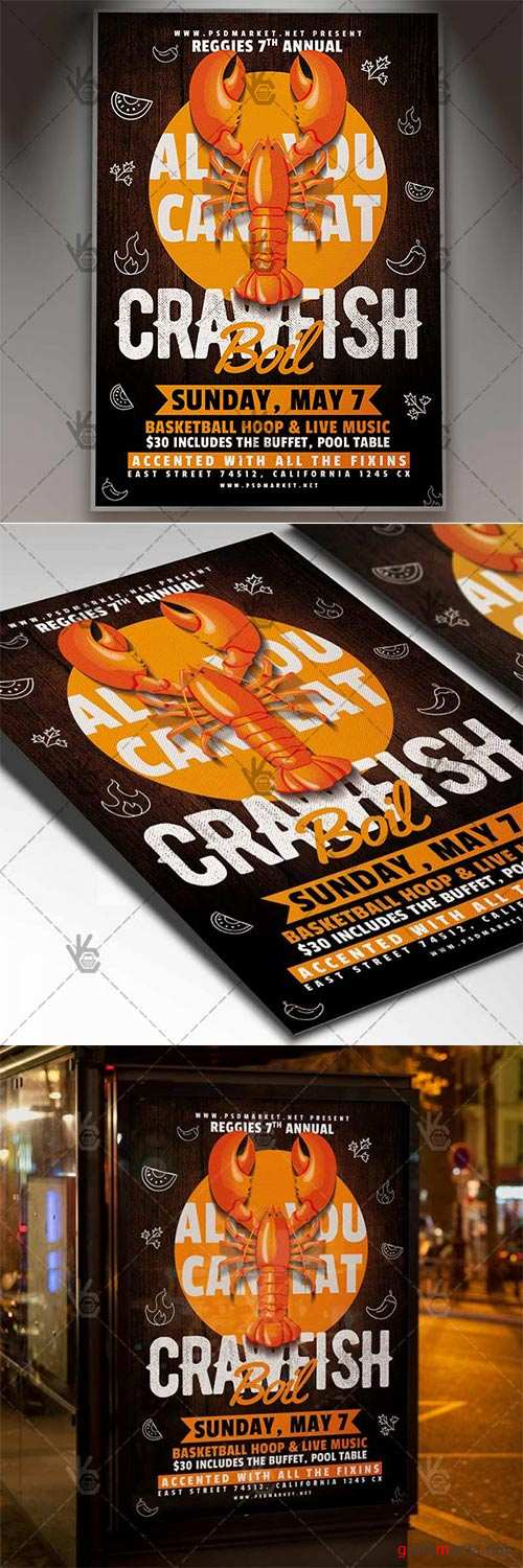 Crawfish Flyer – Business PSD Template