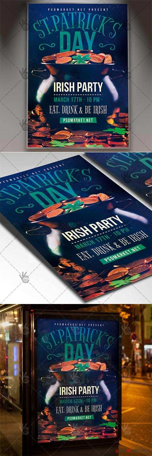 Patricks Day Flyer – Club PSD Template