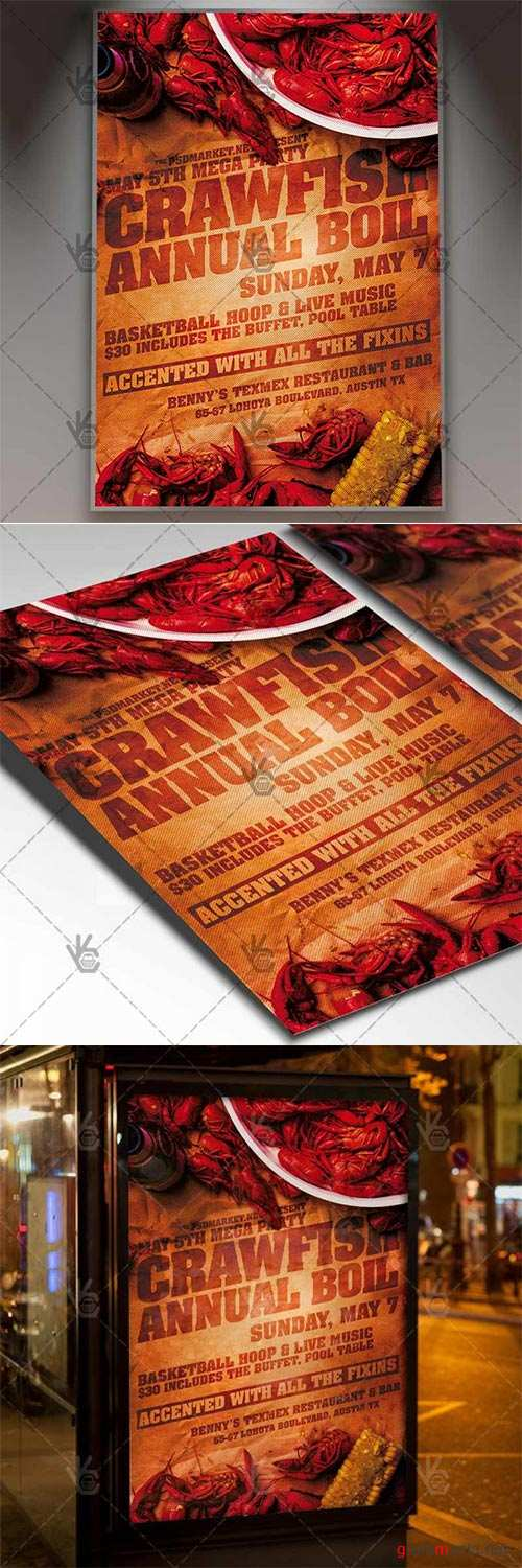 Crawfish Boil Flyer – Business PSD Template