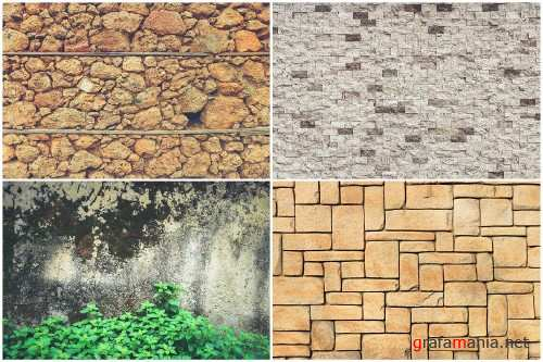 40 Stone Wall Background Textures - 3737569