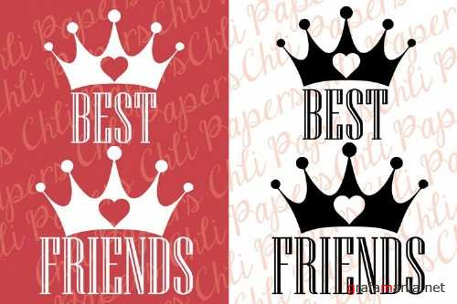 Best Friends Clipart,Girls clipart,Custom besties clipart - 253124