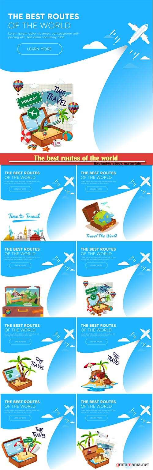 The best routes of the world, vacation and travel concept