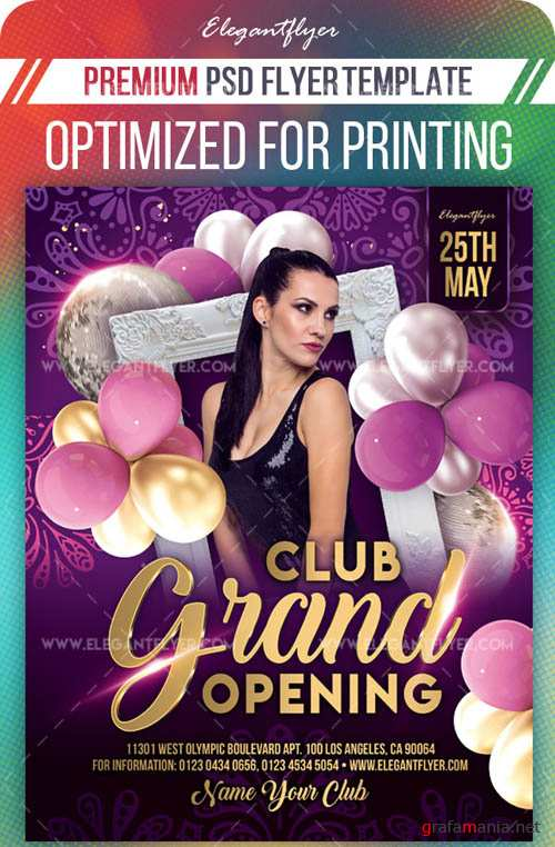 Club Grand Opening V9 2019 Flyer PSD Template
