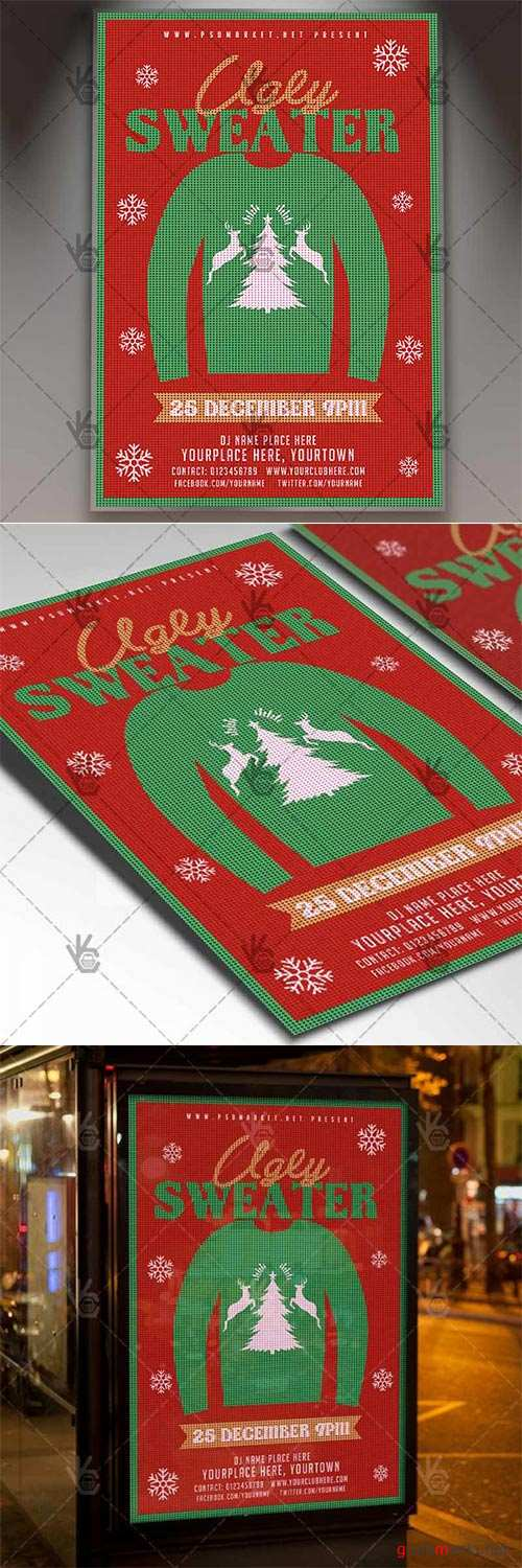 Ugly Sweater – Winter Flyer PSD Template