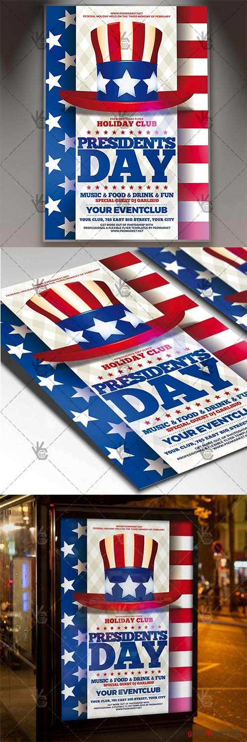 Presidents Day – American Flyer PSD Template