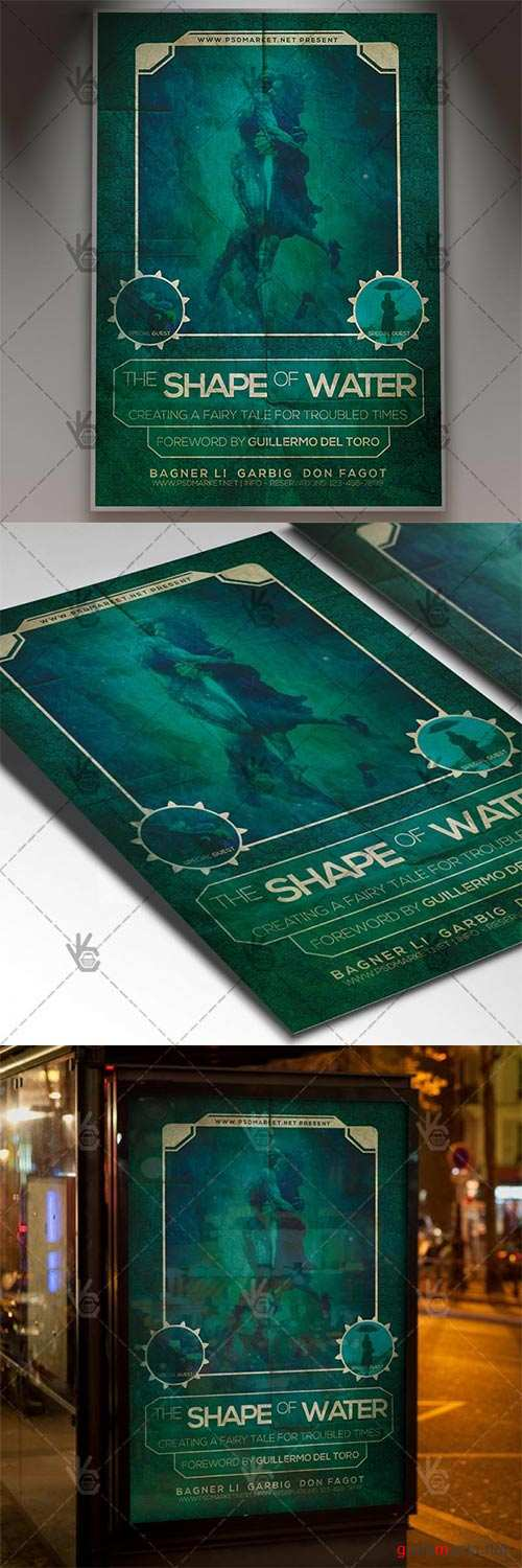 The Shape of Water Poster – Club Flyer PSD Template