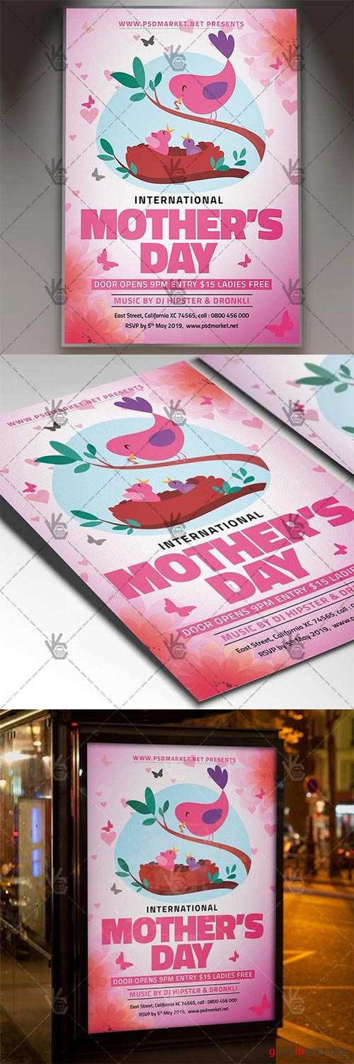 World Mothers Day Flyer – Club PSD Template