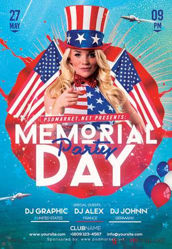 MEMORIAL PARTY FLYER – PSD TEMPLATE