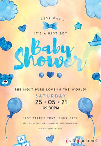 BABY SHOWER IDEAS FLYER – PSD TEMPLATE