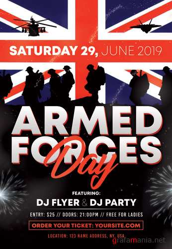 ARMED FORCES DAY FLYER – PSD TEMPLATE