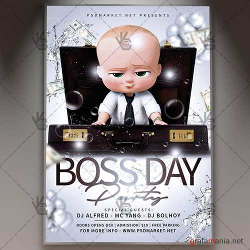 BOSS DAY FLYER - PSD TEMPLATE