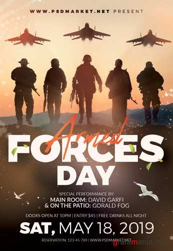 ARMED FORCES DAY 2019 FLYER – PSD TEMPLATE