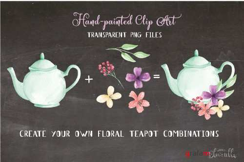 Teapot Floral Flower Elements Kit - 2432002
