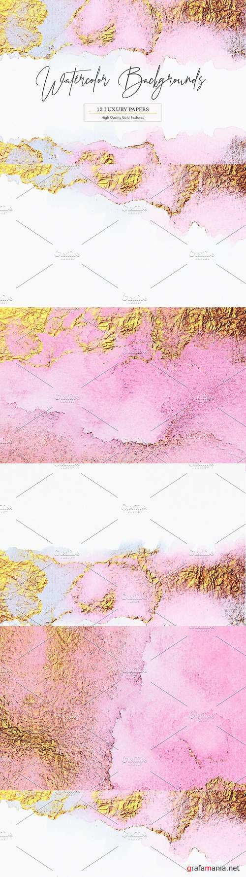 Gold Watercolor Backgrounds - 2285681