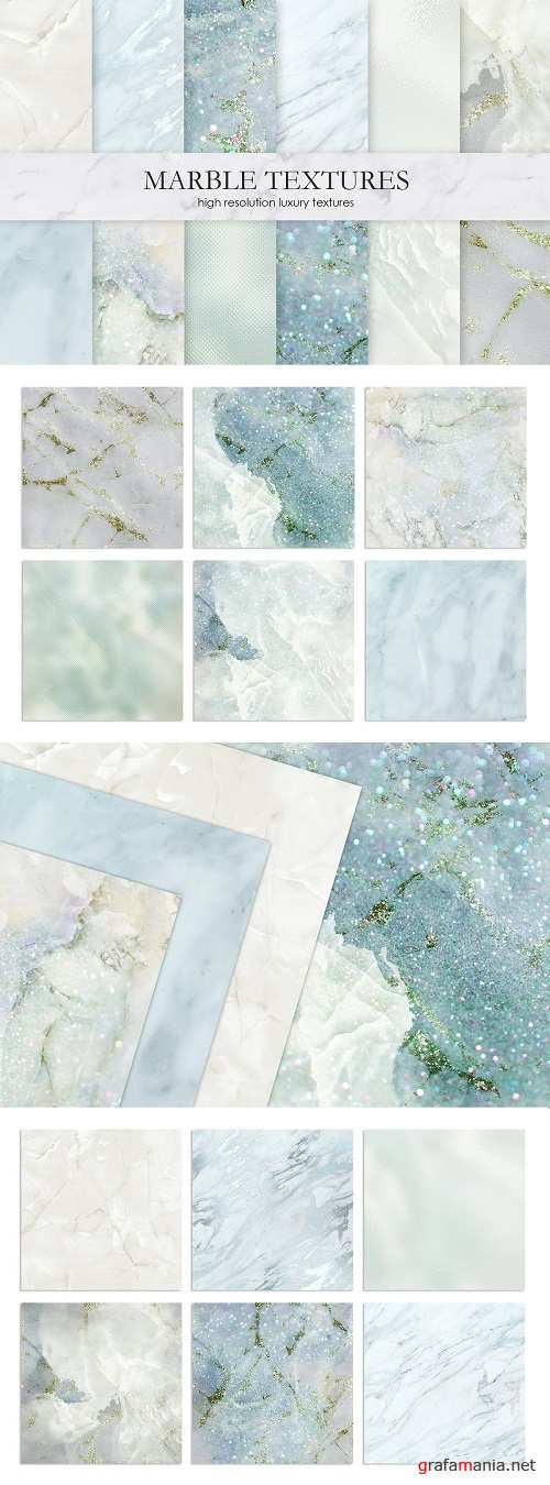 Marble and Watercolor Textures - 2805335