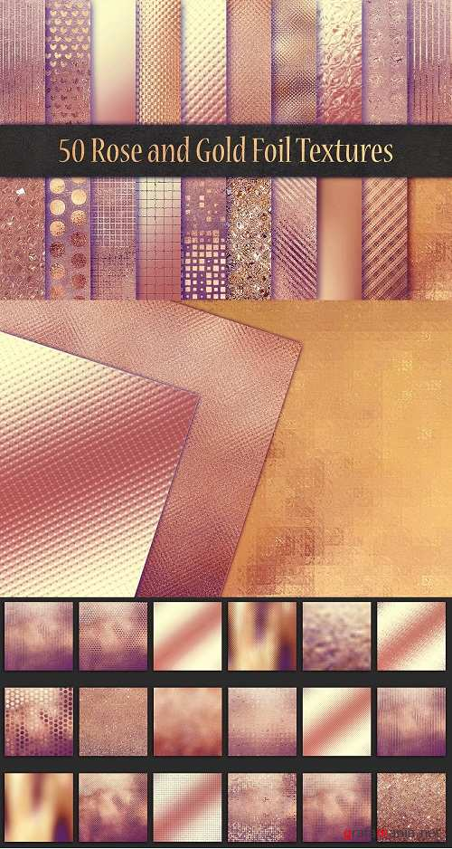 Rose and Gold Foil Textures - 3063096