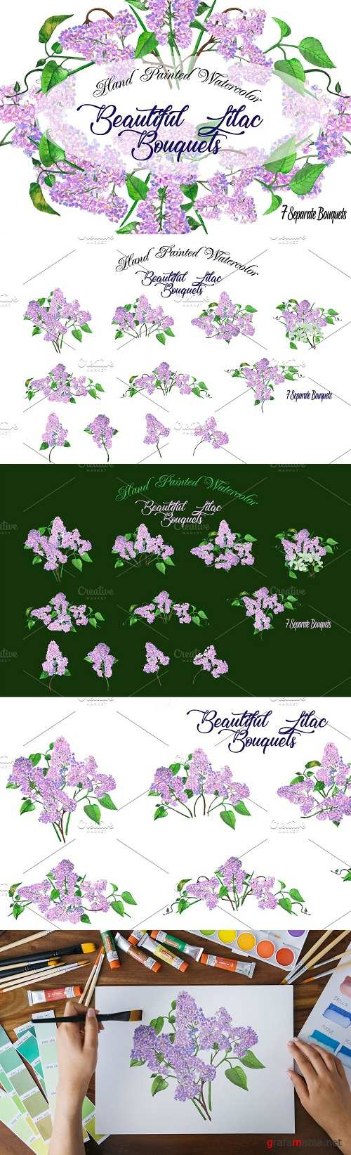 Lilac Spring Bouquets - 2666094