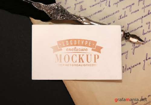 Realistic Mock-ups on Vintage Background - 2-1