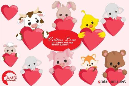 Critters Love Clipart AMB-2152 - 256625