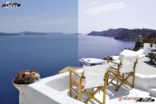 Neo Santorini Theme Color Grading photoshop actions - 260140
