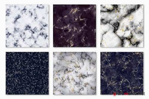 Marble Digital Papers - 10 Veined Marble Textures - 237126