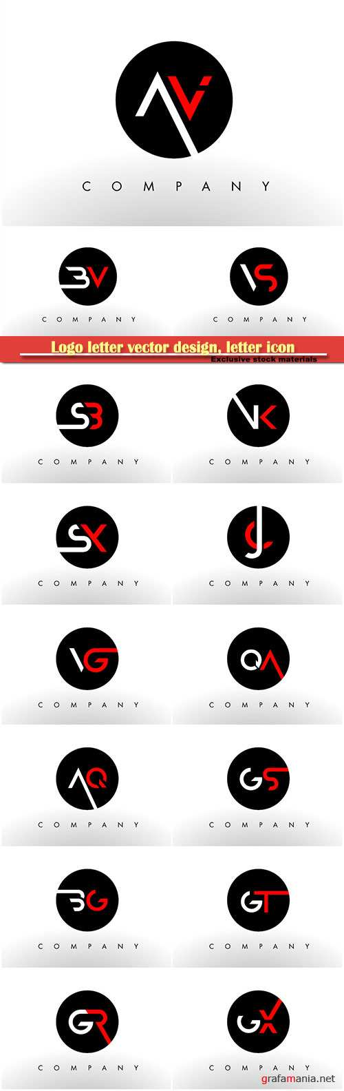 Logo letter vector design, letter icon # 16