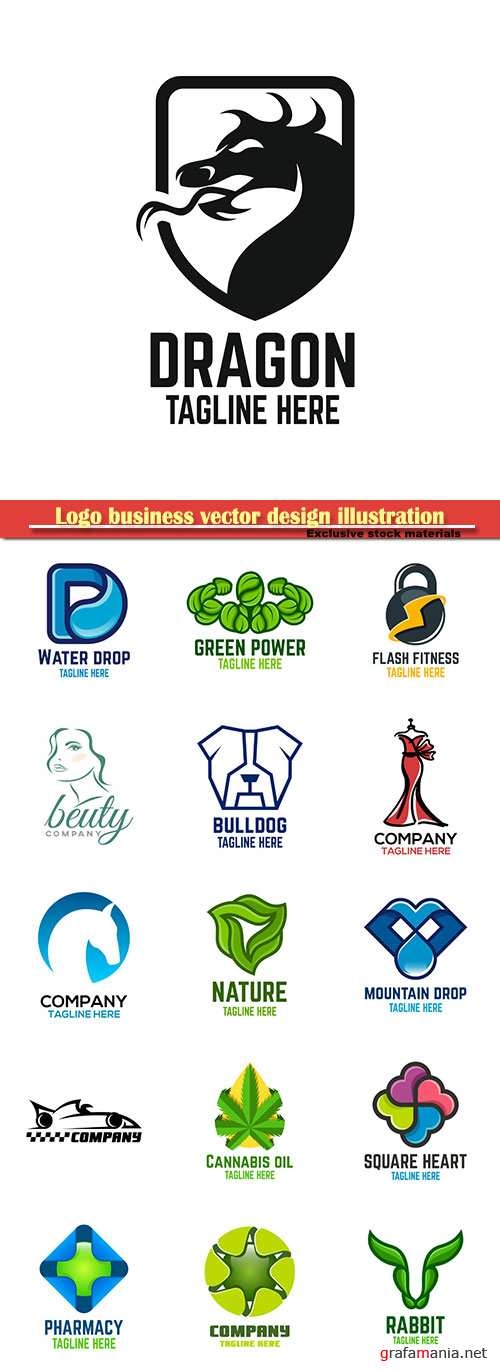 Logo business vector design illustration # 109