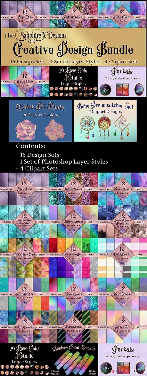The Sapphire X Designs Creative Design Bundle - 20 Products - 258152