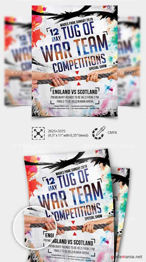 Tug of War Team Competitions V1 2019 Premium PSD Flyer Template