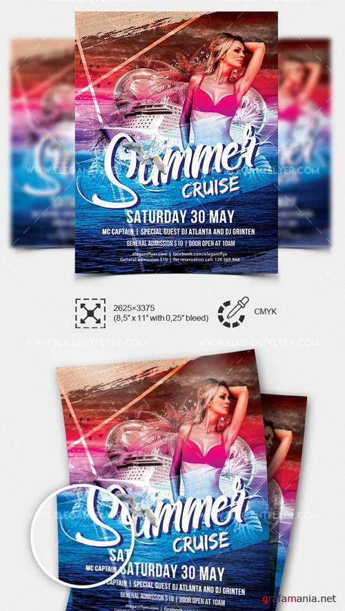 Summer Cruise V1 2019 Premium Flyer Template in PSD