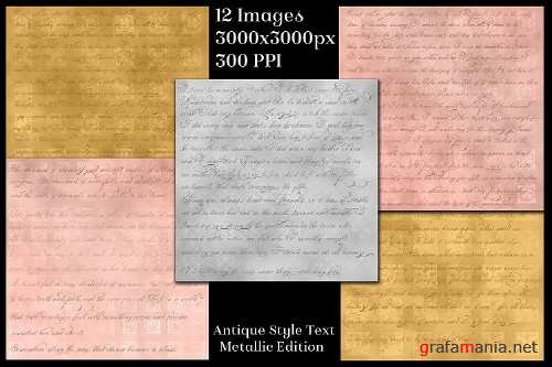 Antique Style Text Backgrounds Metallic Edition - 12 Images - 262999