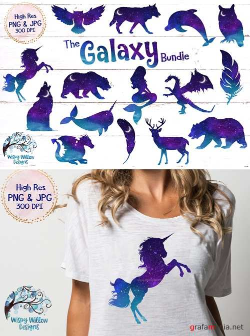 The Galaxy Clipart Bundle - 250772