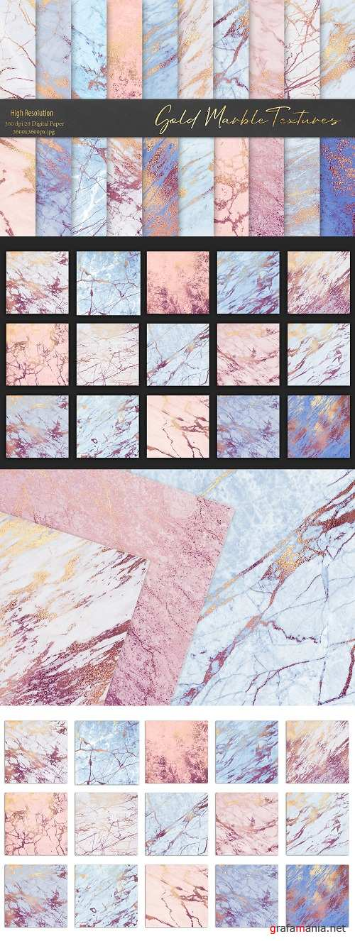 Rose and Blue Gold Marble Textures 3551026