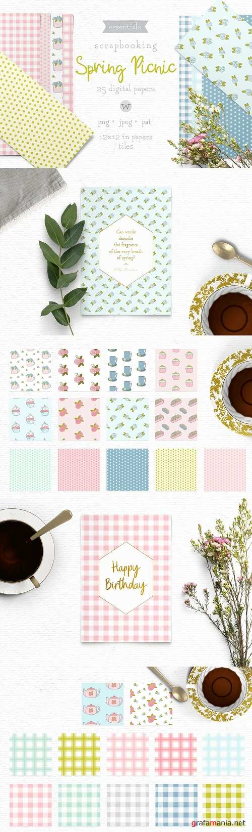 Shabby Chic Papers - 3802953