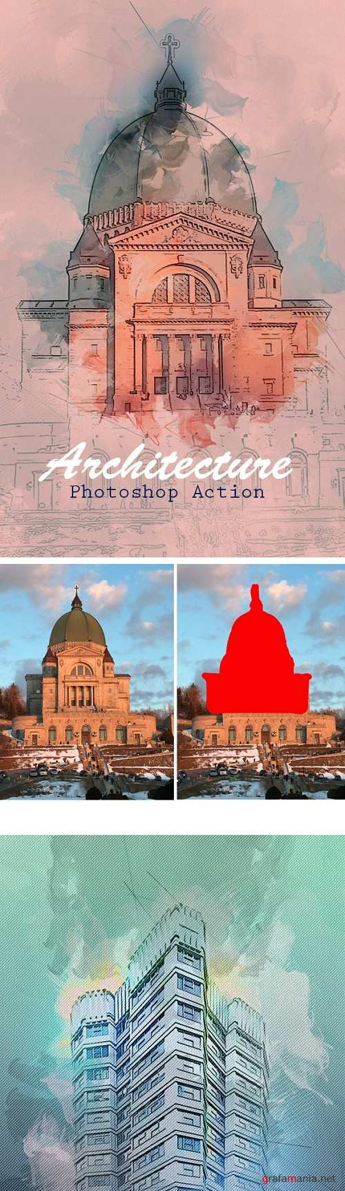 Architecture Photoshop Action 23667924