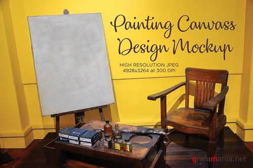 Frame Painting Canvass Product Mockup