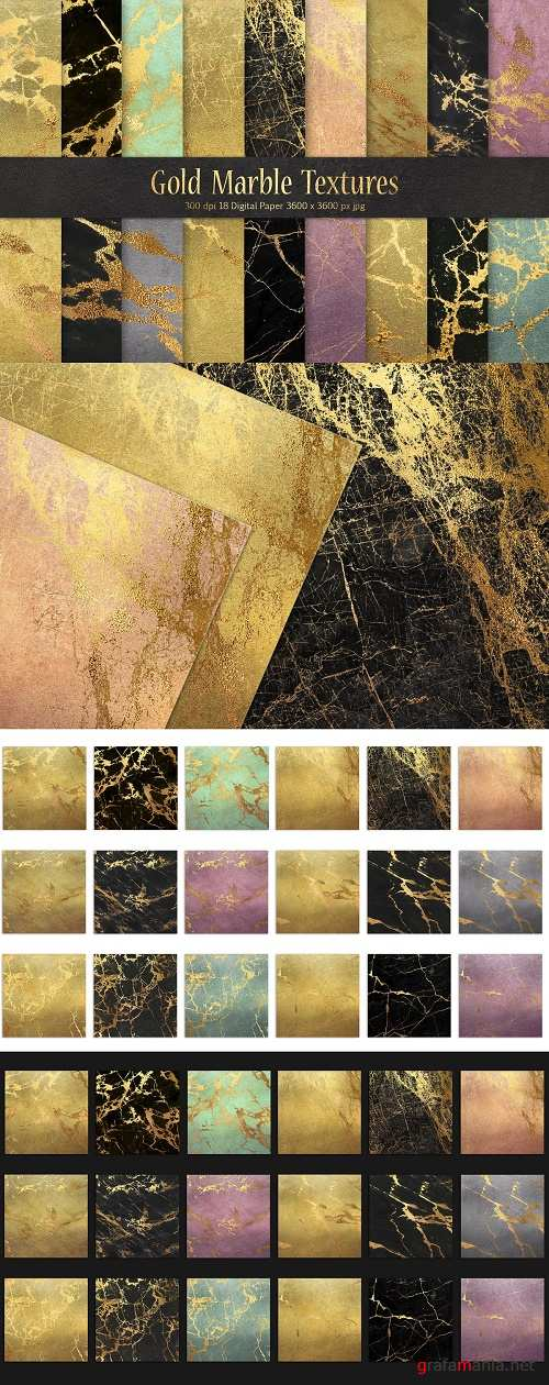 Gold Marble Digital Paper - 2283384