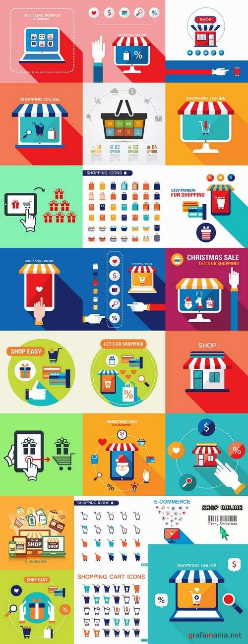 Elements of infographics shopping vector image 25 Eps