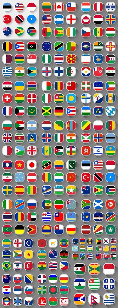 Different icons flags 25 Eps