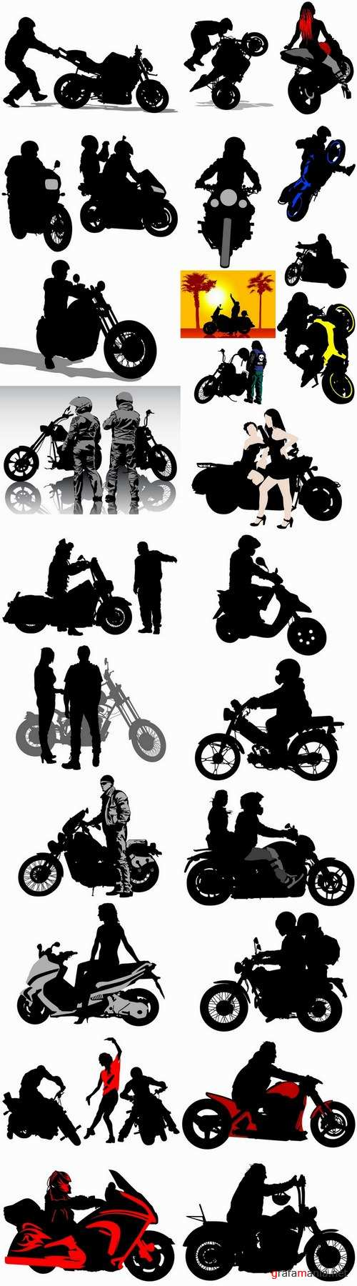 Various types of motorcycles 25 Eps