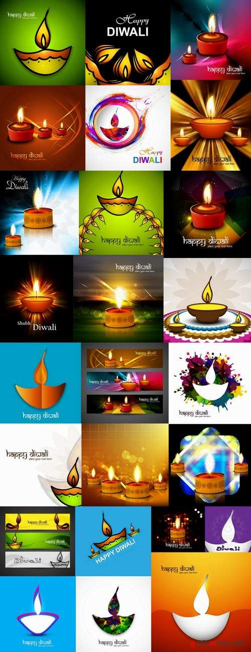 Posters Diwali vector images 25 Eps