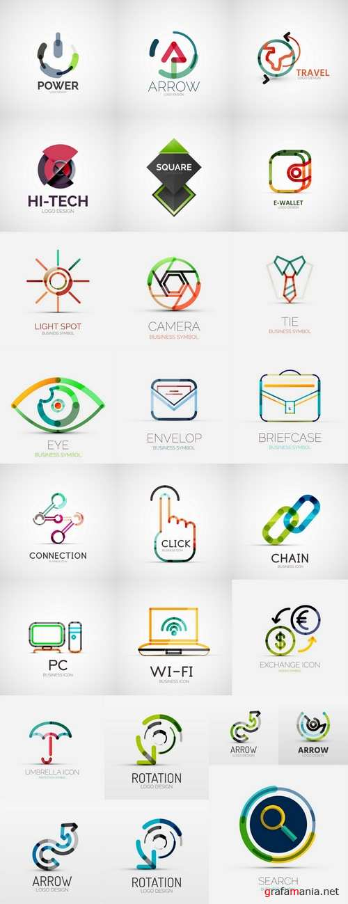 Icons of high-tech technology 25 Eps